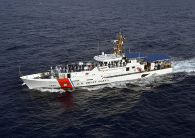 Coast Guard Cutter Lawrence Lawson conducts sea trials off the coast of Miami