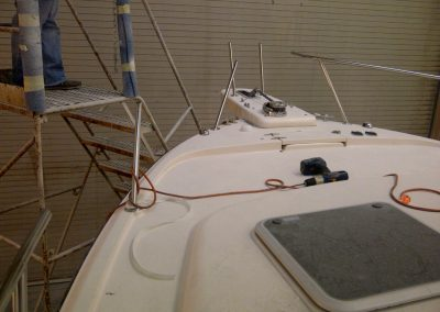 33′ Grady White Bow Rail Repair